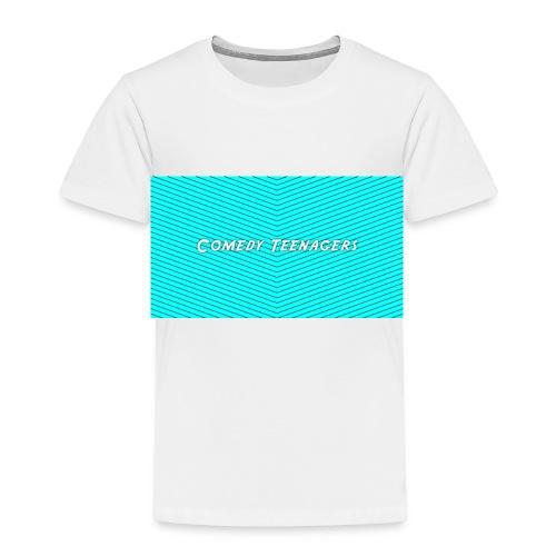 Light Blue Comedy Teenagers T Shirt - Premium-T-shirt barn