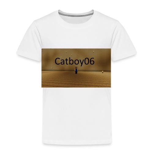 Catboy06 skin med skrift - Premium T-skjorte for barn
