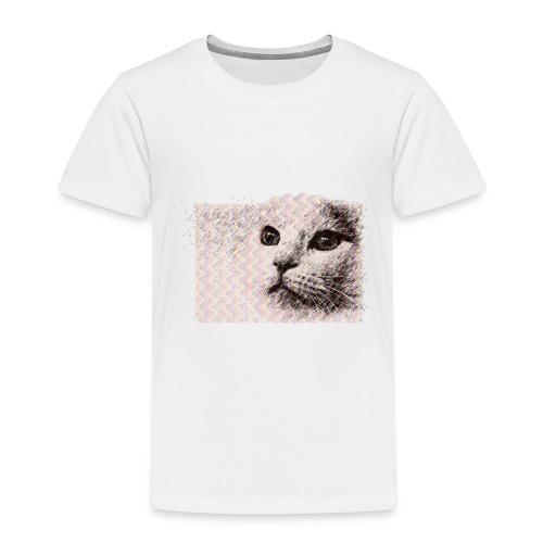 Katze mit Schwingungen - Kinder Premium T-Shirt