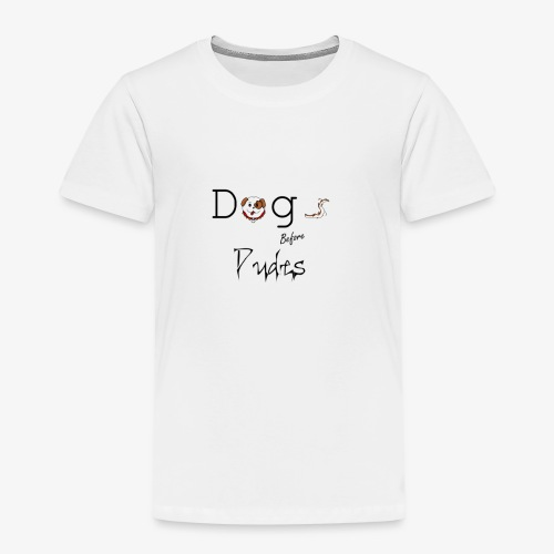 dogs before dudes - Kinderen Premium T-shirt