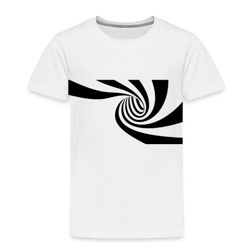 Schwarz - weiße Spirale - Kinder Premium T-Shirt