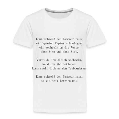 Song Papiertechnologe Papiermacher black - Kinder Premium T-Shirt