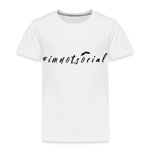 #imnotsocial logo - Maglietta Premium per bambini