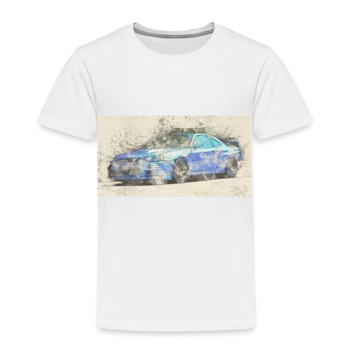 GTR R34 watercolors - Kinder Premium T-Shirt