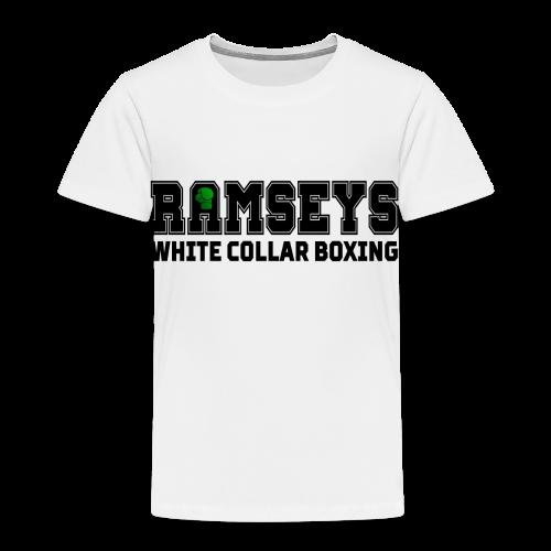 Ramseys White Collar Boxing Black Logo - Kids' Premium T-Shirt