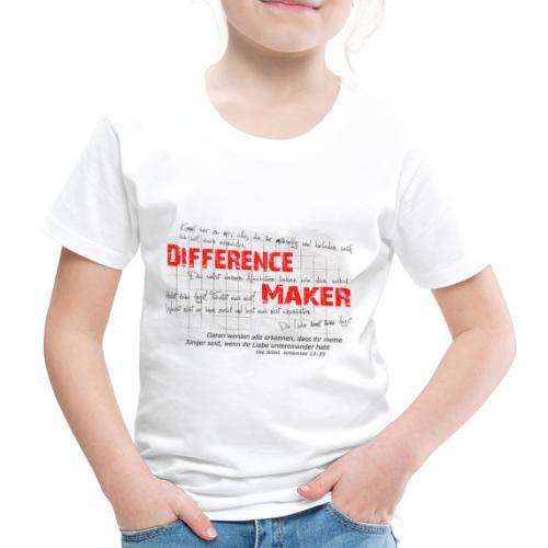 Difference Maker dunkel - Kinder Premium T-Shirt
