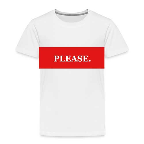 Please - Premium-T-shirt barn