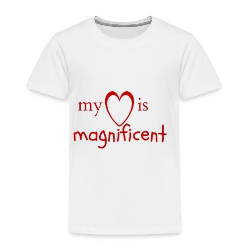 My heart is magnificent - Børne premium T-shirt