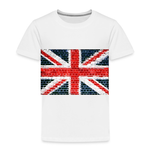 Union Jack Brick Wall - Kids' Premium T-Shirt