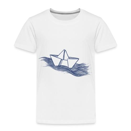 Schiff dunkelblau - Kinder Premium T-Shirt
