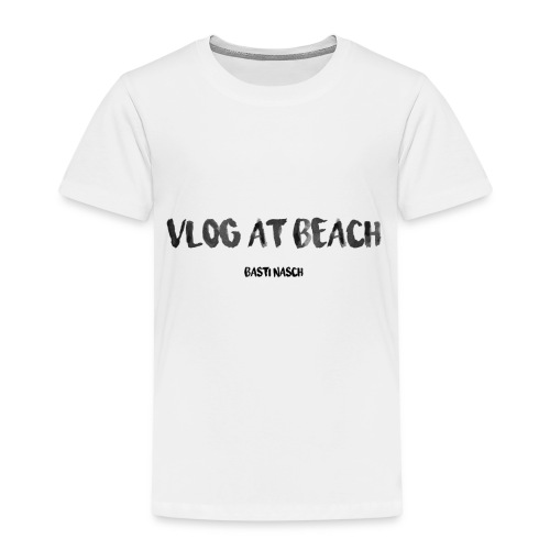 vlog at beach - Kinder Premium T-Shirt