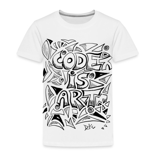 Code is art - Kinder Premium T-Shirt