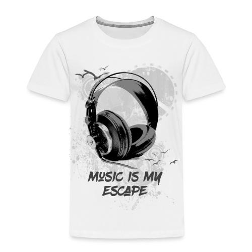 music is my escape - T-shirt Premium Enfant