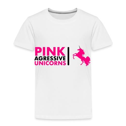 PINK AGRESSIVE UNICORNS - Kinder Premium T-Shirt