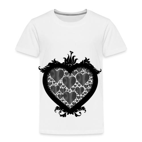 serce ramka - Koszulka dziecięca Premium