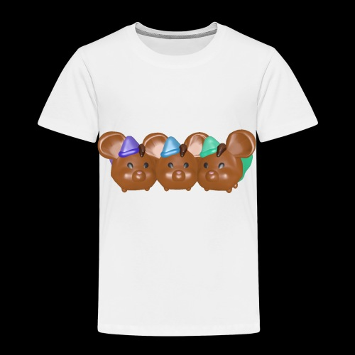trio souris brunes garcons - T-shirt Premium Enfant