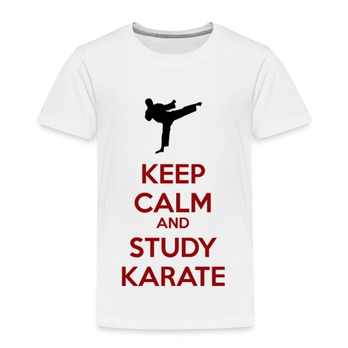 Keep Calm and Study Karate - Kids' Premium T-Shirt