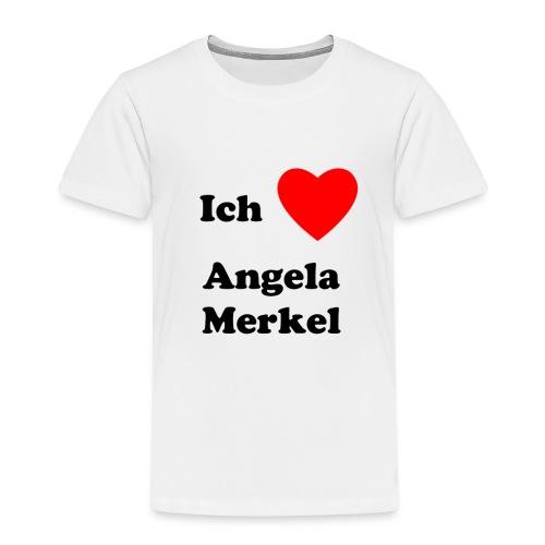 Ich liebe Angela Merkel - Kinder Premium T-Shirt