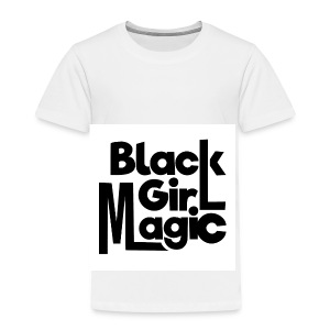 Black Girl Magic 2 Black Text - Kids' Premium T-Shirt