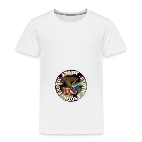 EXOTIC logo and circle - Kids' Premium T-Shirt