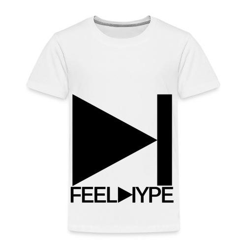 Feel Hype Logo Schwarz - Kinder Premium T-Shirt