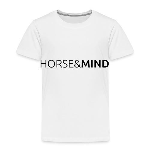Horse and Mind - Typo - Kinder Premium T-Shirt