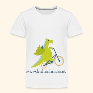 Musikdrache für hellen Hintergrund - Kinder Premium T-Shirt