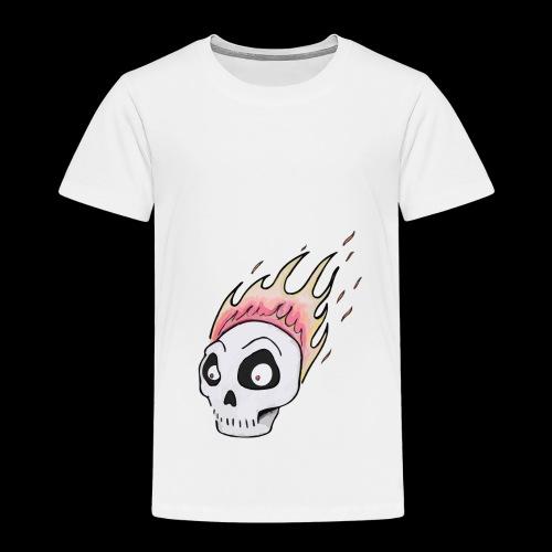 Burning skull1 - Premium-T-shirt barn