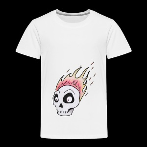 Burning skull1 - Premium-T-shirt barn