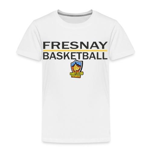 Fresnay basketball avec logo et trait jaune - T-shirt Premium Enfant