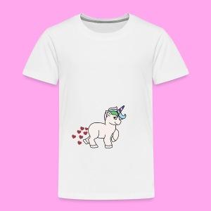eenhoorn hartjes - Kinderen Premium T-shirt