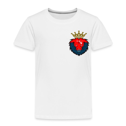 red and blue colourway with crown - Kids' Premium T-Shirt