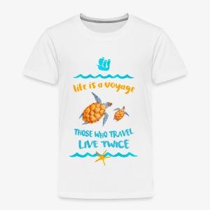 life is a travel - Koszulka dziecięca Premium