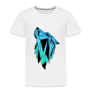 Blau-Schwarzer Wolf - Kinder Premium T-Shirt