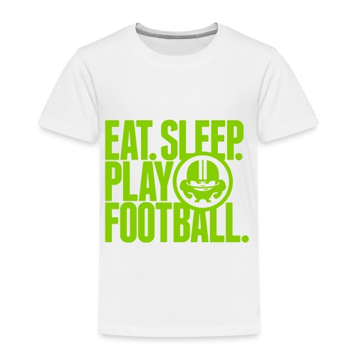 EAT. SLEEP. PLAY FOOTBALL. WHITE - Kinder Premium T-Shirt