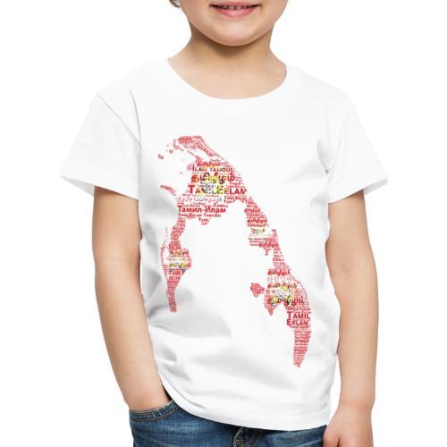 TamilEelam Text Design red - T-shirt Premium Enfant