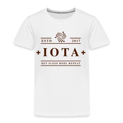 Iota Buy Sleep Hodl Repeat - Kinder Premium T-Shirt