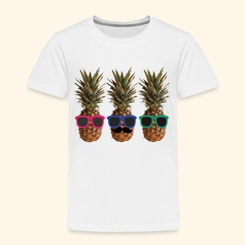 Hipster Ananas mit Sonnenbrillen und Bart - Kids' Premium T-Shirt