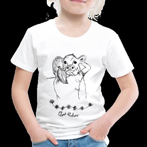 Choose Kindness Tierfreund Kuh Umarmung Tierliebe - Kinder Premium T-Shirt