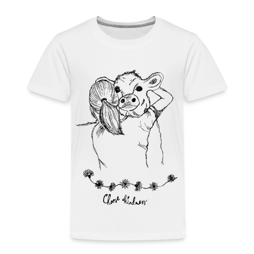 Choose Kindness Tierfreund Kuh Umarmung Tierliebe - Kinder Premium T-Shirt