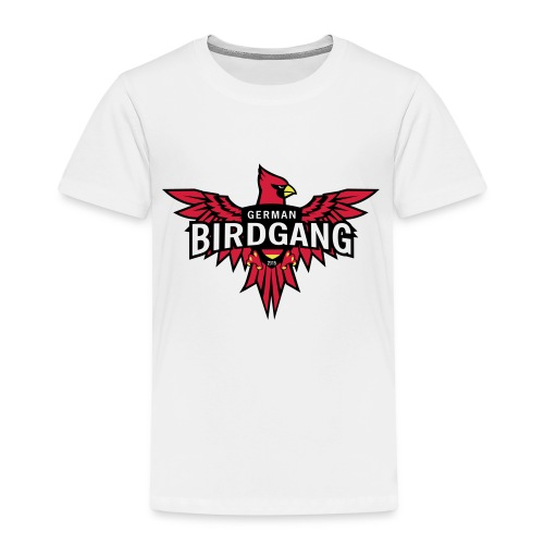 German Birdgang Logo White - Kinder Premium T-Shirt