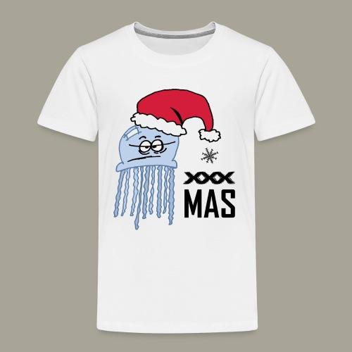 Qualle mit Weihnachtsmütze X MAS - Kinder Premium T-Shirt