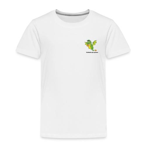 Cuidado que quemo - Camiseta premium niño