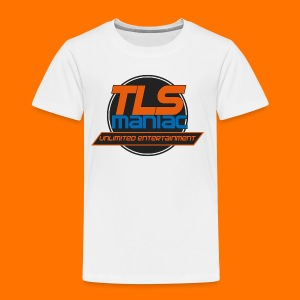TLS Maniac Logo With Transparent Outline - Kids' Premium T-Shirt