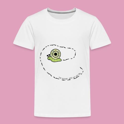 Petit escargot porte sur son dos... - T-shirt Premium Enfant