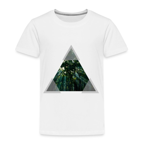 Triangle Forest window - Kids' Premium T-Shirt