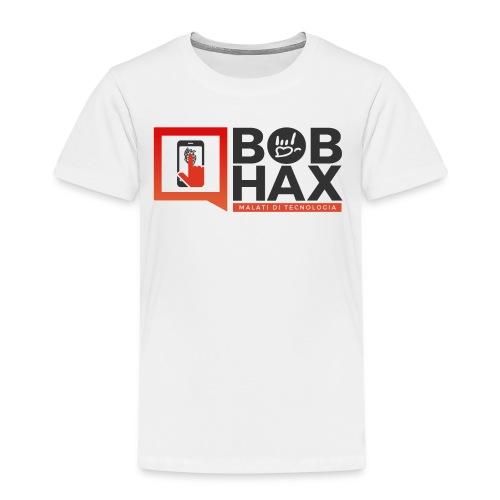 LOGO BobHax nero trasp - Maglietta Premium per bambini