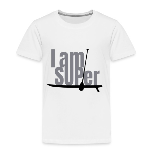 IamSUPer 002 design blackgrey Artboard 1 - Kinder Premium T-Shirt
