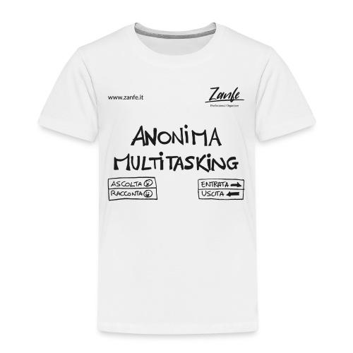Anonima Multitasking (Nero) - Maglietta Premium per bambini