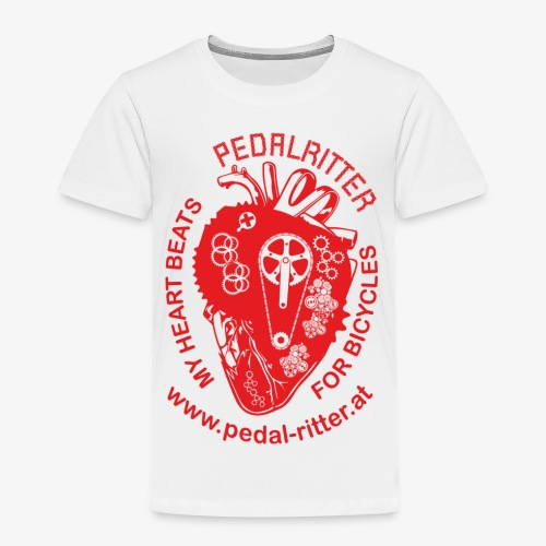 Cyclists Heart - Kinder Premium T-Shirt